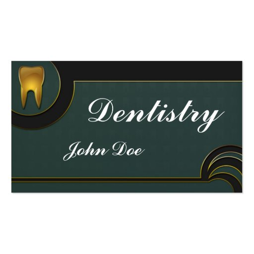 Dentistry business card templates page6 bizcardstudio elegant golden teeth dentist dental business card reheart Image collections