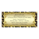 Elegant Golden Ticket Birthday Party Personalized Announcement