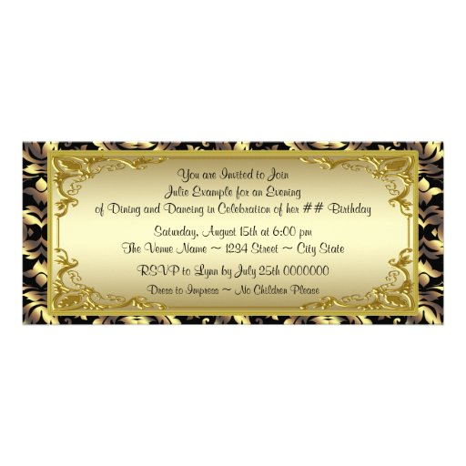 Personalized Golden ticket Invitations CustomInvitations4Ucom