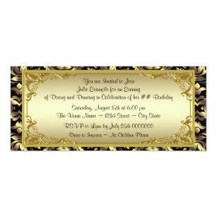 Golden ticket invitations announcements zazzle elegant golden ticket birthday party invitation filmwisefo