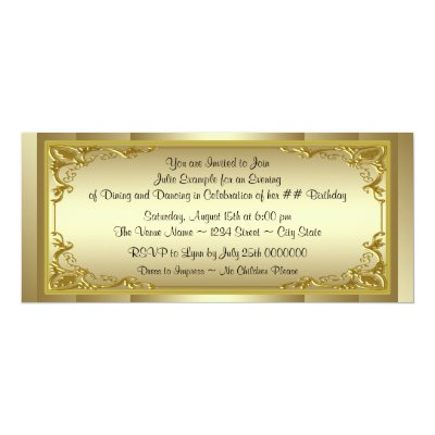 Golden ticket 50th birthday party invitation zazzle filmwisefo
