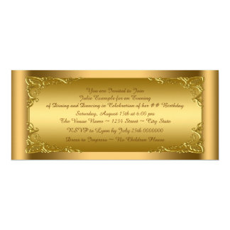 Elegant Golden Ticket Party Card