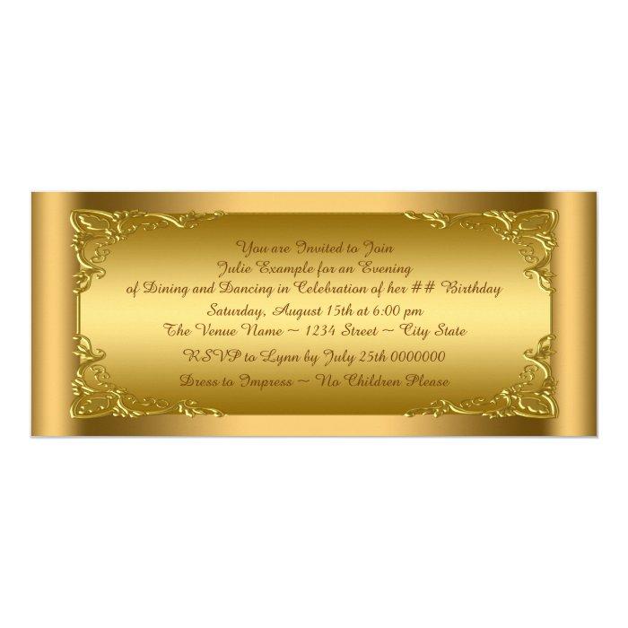 Elegant Golden Ticket Party Card   Zazzle