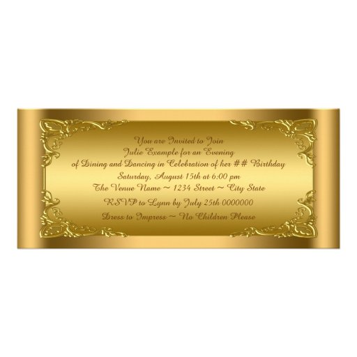 Personalized golden ticket invitations custominvitations4u elegant golden ticket party invitation filmwisefo