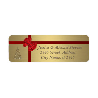 Elegant golden trendy holiday Christmas Label