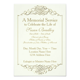 Simple Funeral Invitations & Announcements | Zazzle