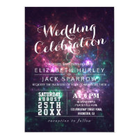 Elegant Gorgeous Galaxy Wedding Invitations