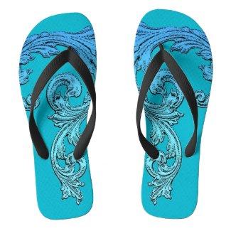 Elegant Goth Design Flip Flops