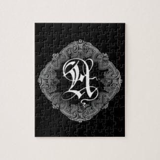 Elegant Goth Initial A Puzzle