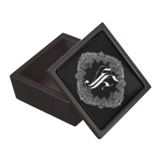 Elegant Goth Initial F Jewelry Box