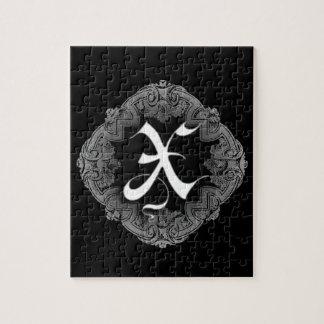 Elegant Goth Initial N Puzzle