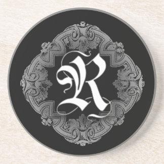 Elegant Goth Initial R Drink Coaster