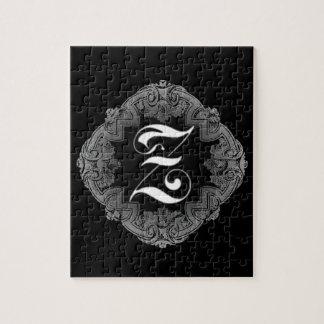 Elegant Goth Initial Z Puzzle