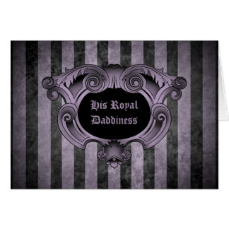 Elegant goth ornate black and purple father's day card