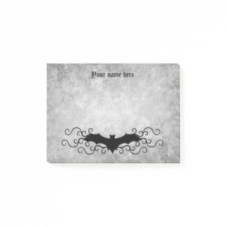 Elegant Gothic bat black and gray Post-it Notes