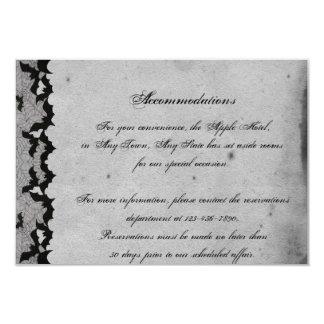 Elegant Gothic Bat Lace Posh Wedding Insert Card