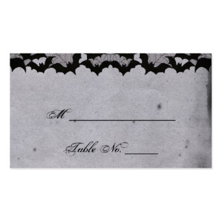 Elegant Gothic Bat Lace Posh Wedding Place Cards Business Card Templates