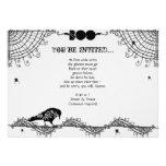 Elegant Gothic Black and White Halloween Party Custom Invites