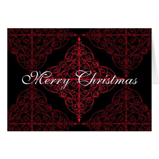 Elegant gothic Christmas ornamental design Card
