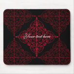Elegant gothic Christmas ornamental design Mouse Pads