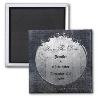 Elegant Gothic Cobwebs Save The Date Wedding Magnet