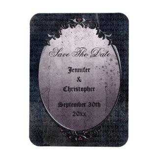 Elegant Gothic Cobwebs Save The Date Wedding Magnets
