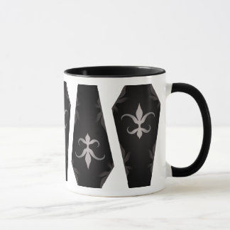 Elegant gothic coffins all around for Halloween Mug