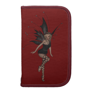 Elegant Gothic Fairy in Black on Red Planners