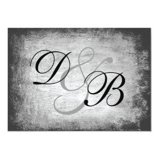 "Elegant Gothic Grunge 4.5"" X 6.25"" Invitation Card"