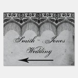 Elegant Gothic Lace Posh Direction Sign