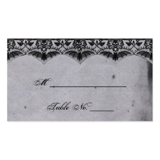 Elegant Gothic Lace Posh Wedding Place Cards Business Card Templates