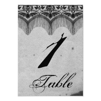 Elegant Gothic Lace Posh Wedding Table Number