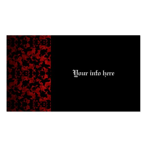 Elegant Gothic patterned business cards Business Cards