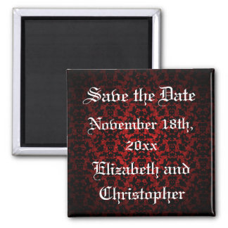 Elegant Gothic Save the Date Magnets