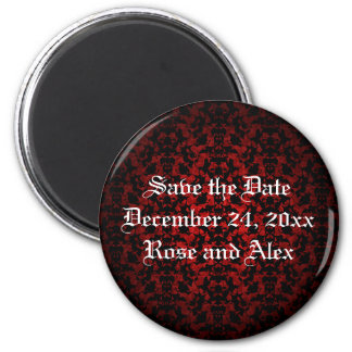 Elegant Gothic save the date wedding magnet