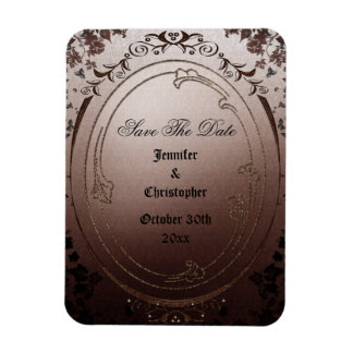 Elegant Gothic Save The Date Wedding Rectangle Magnet