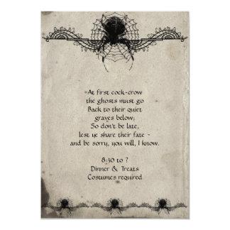 Elegant Gothic Spider Halloween Party Invitation