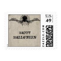 Elegant Gothic Spider Halloween Postage