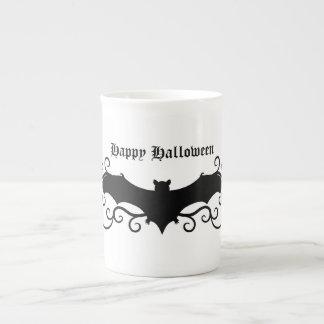 Elegant gothic victorian bat and swirls porcelain mug