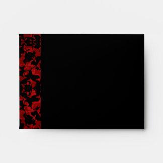 Elegant Gothic wedding envelopes for sm note cards