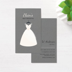 Elegant Gown Bridal And Dress Boutique 3 Business Card