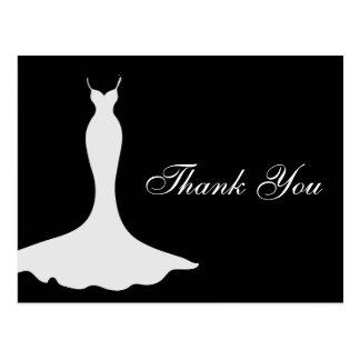 Elegant Gown Bridal Shower Thank You Postcard