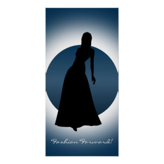 Elegant Gown Fashion Illustration Poster