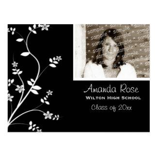 Elegant Grad Invitation... Postcard