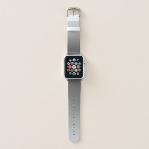 Elegant Gradient Silver Grey Apple Watch Band