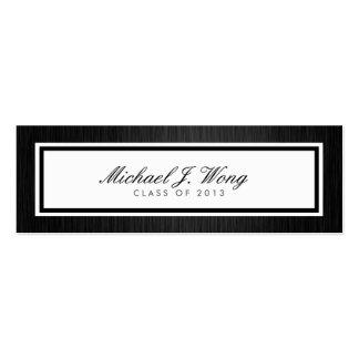 Elegant Graduation Announcement Name Cards Business Card Templates