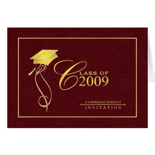 Elegant Graduation Card - Invitations | Zazzle