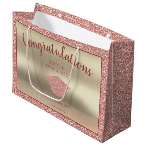 Elegant Graduation Class of 2021 Congratulations Large Gift Bag