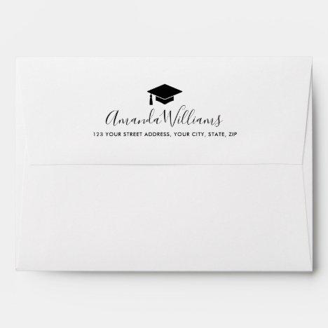 Elegant graduation envelopes with custom color cap