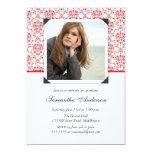 "Elegant Graduation Invitation Announcement - Red 5"" X 7"" Invitation Card"